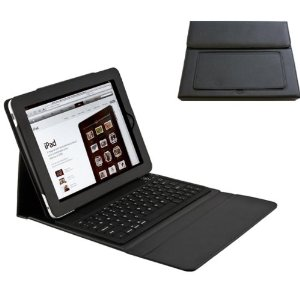 e-stand black ipad case with bluetooth keyboard
